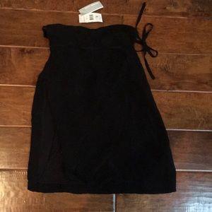 NWT James Perse 2 Medium Black Tie Wrap Skirt
